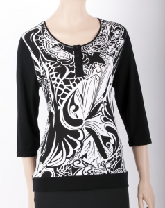 "Shirt ""Black and White"""
