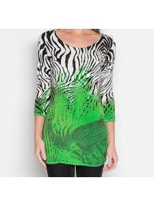 """Longpullover """"Grassy Zebra"""""""